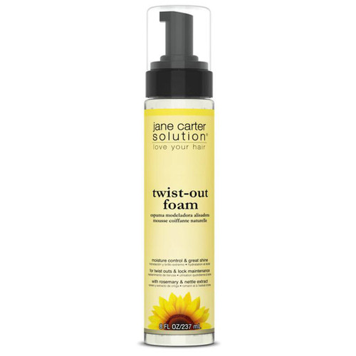 An 8oz bottle of Jane Carter Solution Natural Twist-Out Foam
