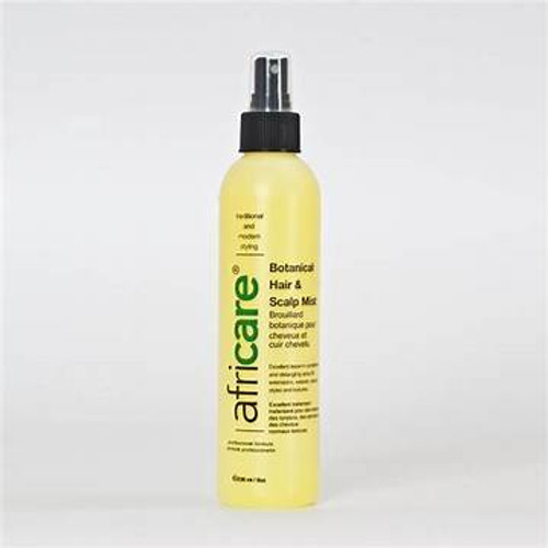 An 8oz bottle of Africare Botanical Hair & Scalp Mist