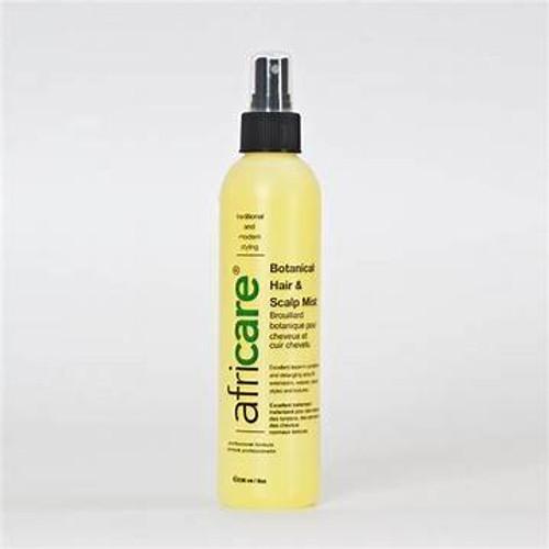 An 8oz bottle of Africare Botanical Hair & Scalp Mist