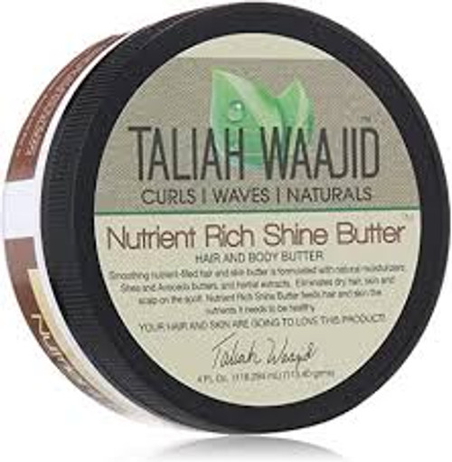 A 4oz jar of Taliah Waajid Nutrient Rich Shine Butter