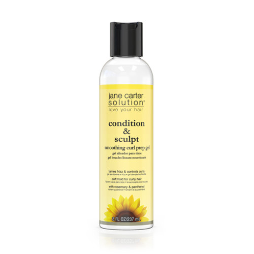 A bottle of Jane Carter Solution Condition & Sculpt Smoothing Curl Prep Gel