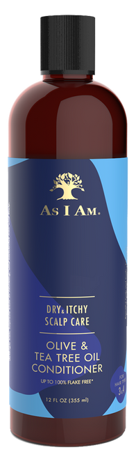 A 12oz bottle of As I Am Dry & Itchy Scalp Care Conditioner