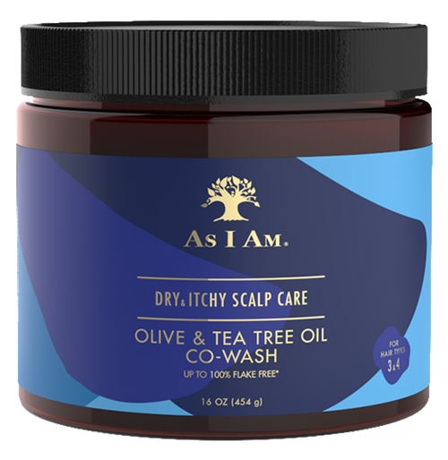 A 16oz jar of As I Am Dry & Itchy Scalp Care Co-Wash