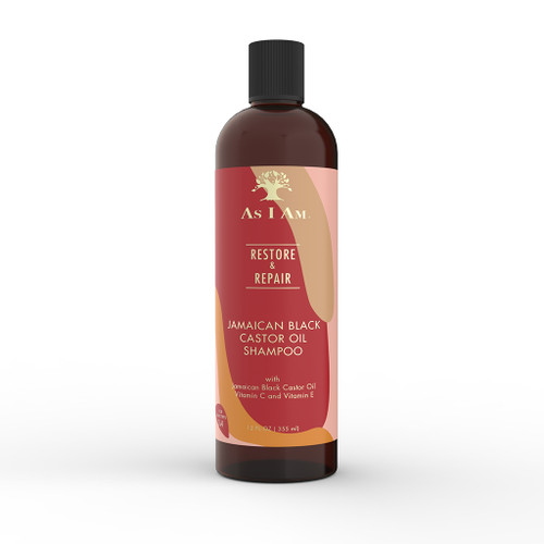 A 12oz bottle of As I Am Jamaican Black Castor Oil Shampoo