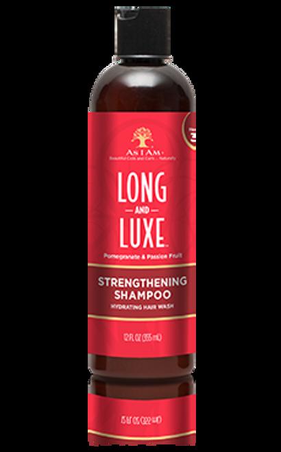 A 12oz bottle of As I Am Strengthening Shampoo
