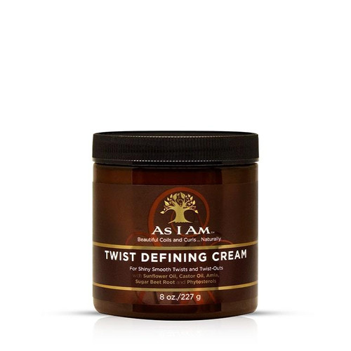 An 8oz tub of As I Am Twist Defining Cream