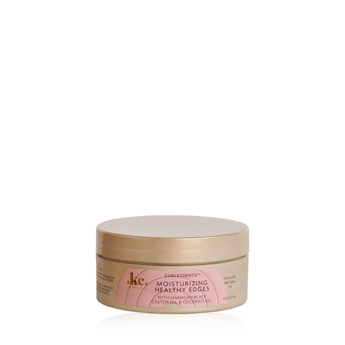 A 2.3oz jar of KeraCare Curlessence Moisturizing Healthy Edges