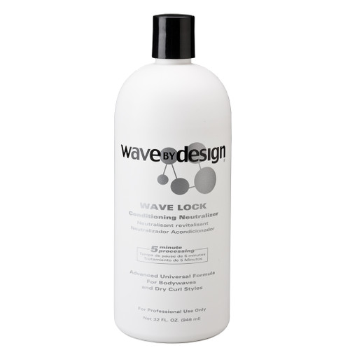 A 32oz bottle of Wave By Design Wave Lock Conditioning Neutralizer