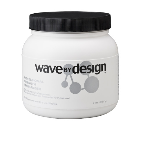 A 32oz jar of Wave by Design Professional Strength Rearranger