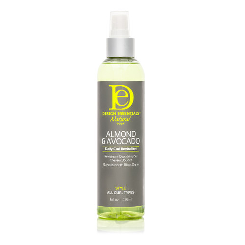 A 12oz bottle of Design Essentials Almond & Avocado Daily Curl Revitalizer
