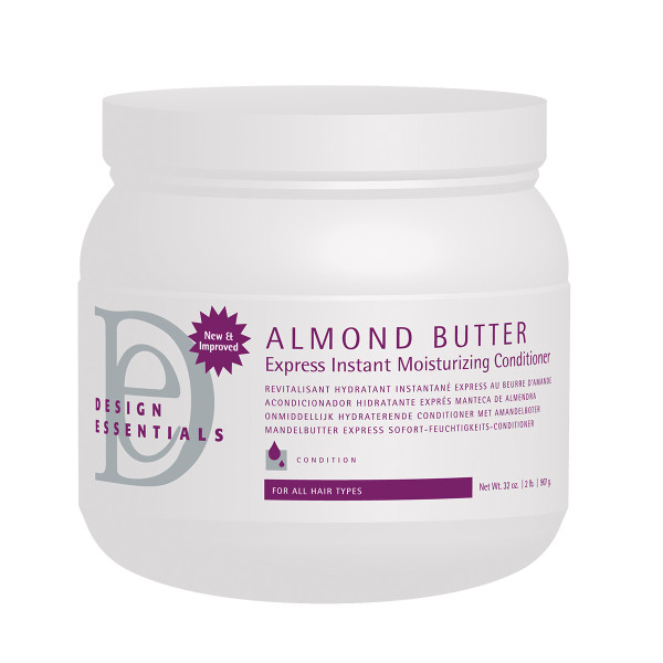 A 32oz jar of Design Essentials Almond Butter Instant Moisturizing Conditioner