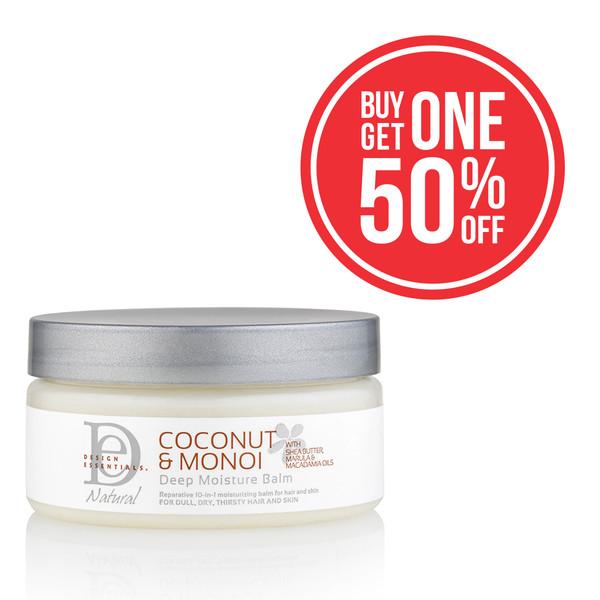 A 4oz jar of Design Essentials Coconut & Monoi Deep Moisture Balm