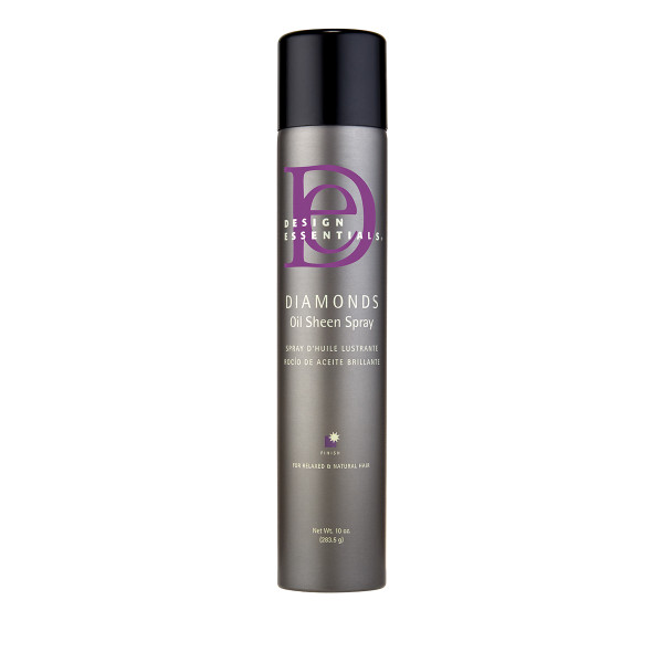 A bottle of Design Essentials Diamonds Oil Sheen Spray