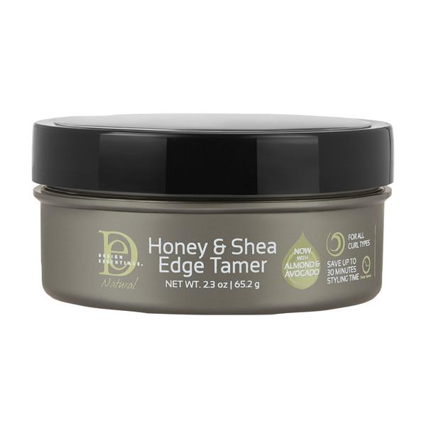 A 2.3oz jar of Design Essentials Honey & Shea Edge Tamer