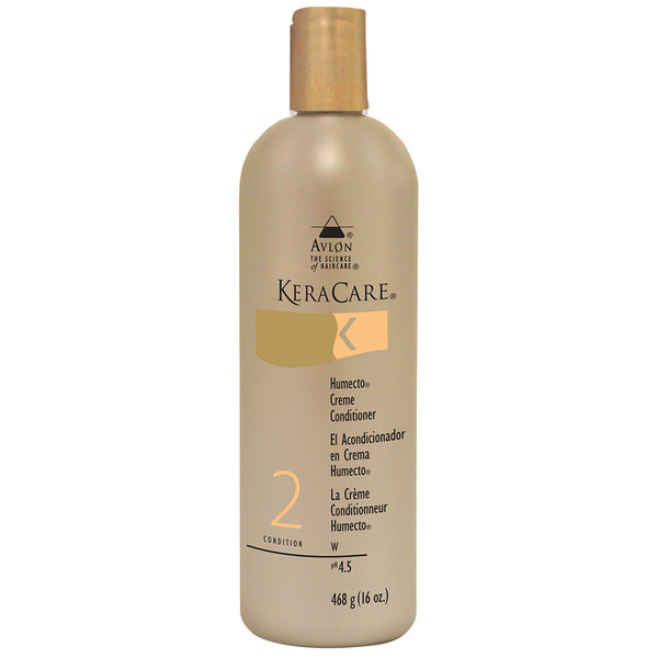 A 16oz bottle of KeraCare Humecto Crème Conditioner