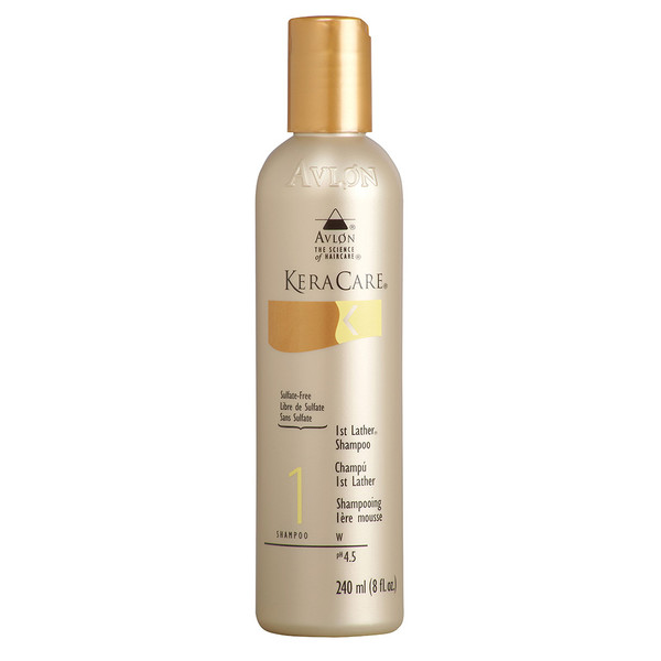 A bottle of KeraCare 1st Lather Shampoo 8oz