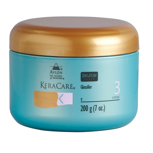 A 7oz jar of KeraCare Dry & Itchy Scalp Glossifier
