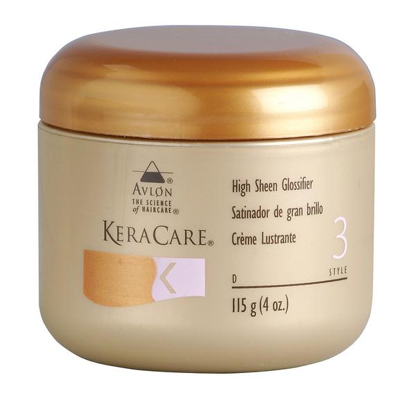 An 8oz jar of KeraCare High Sheen Glossifier