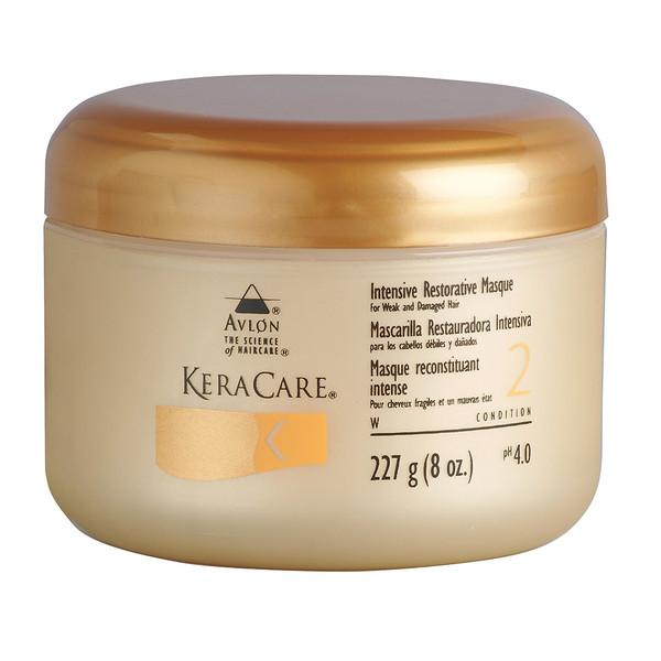 An 8oz jar of KeraCare Intensive Restorative Masque