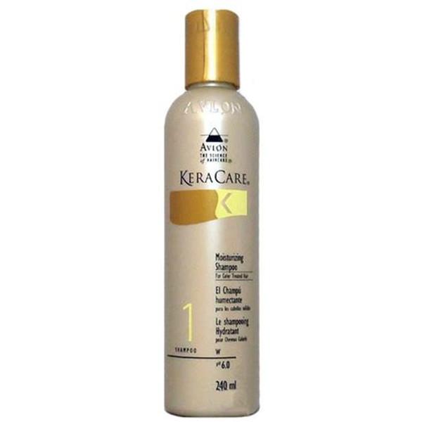 An 8oz bottle of KeraCare Moisturising Shampoo for Colour Treated Hair