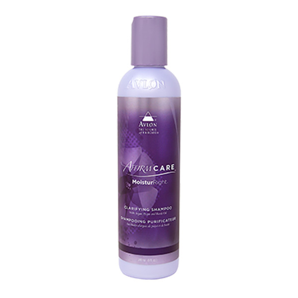 An 8oz bottle of Affirm MoisturRight Clarifying Shampoo