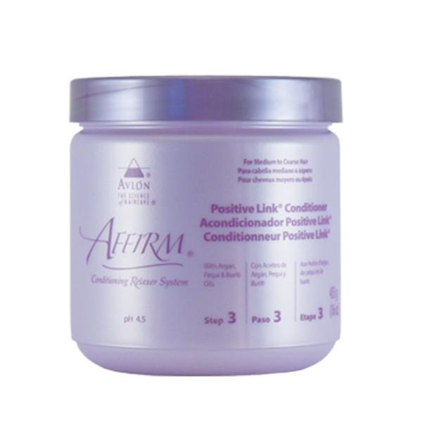 A 16oz jar of Affirm Positive Link Conditioner