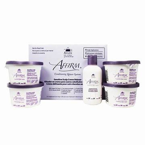 A sample image of the Affirm Conditioning Relaxer System Sensitive Scalp Cream Relaxer Kit - 4 Pack.