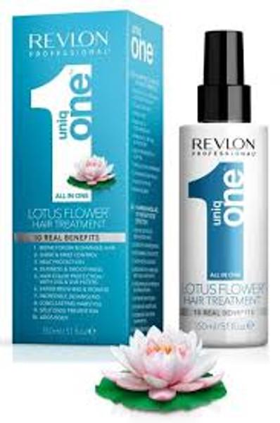 A box of Revlon Uniq One All-In-One Hair Treatment - Lotus