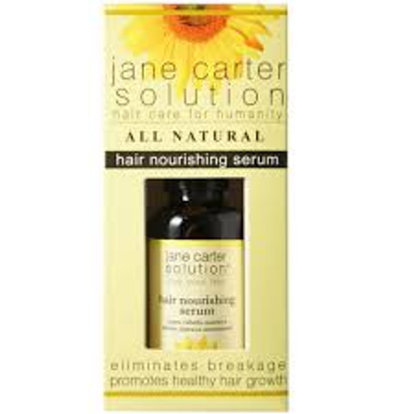 A box containing a 2oz bottle of Jane Carter Solution Hair Nourishing Serum