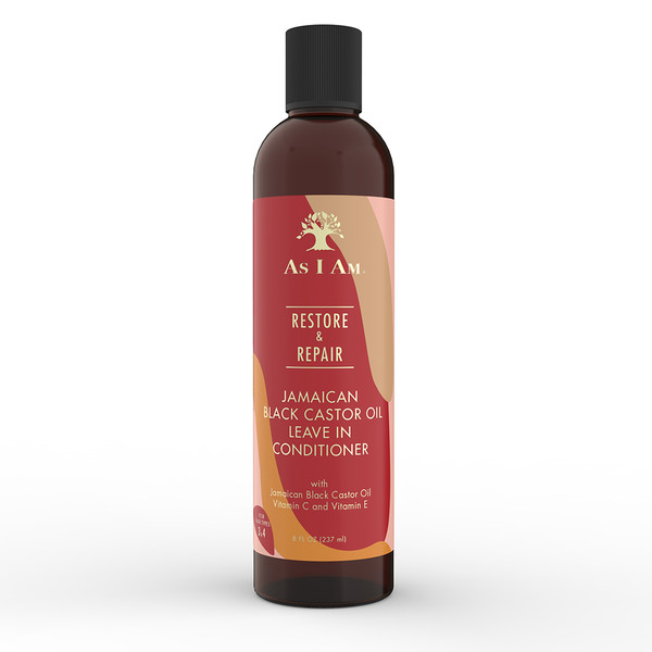 An 8oz bottle of As I Am Jamaican Black Castor Oil Leave-in Conditioner