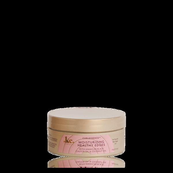 A 2.3oz jar of KeraCare Curlessence Moisturizing Healthy Edges