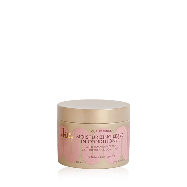 An 11.25oz jar of KeraCare Curlessence Moisturizing Leave-in Conditioner