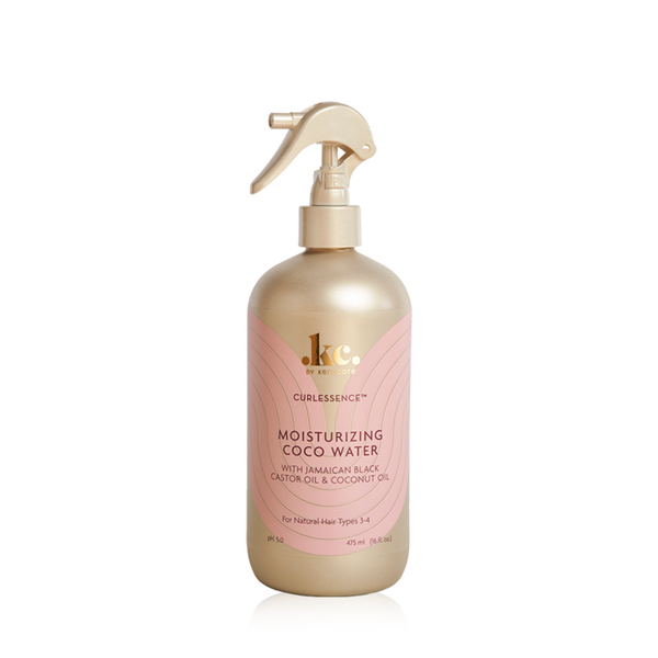 A 16oz spray bottle of KeraCare Curlessence Moisturizing Coco Water