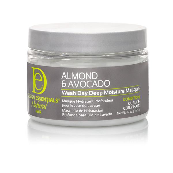 A 12oz jar of Design Essentials Almond & Avocado Wash Day Deep Moisture Masque