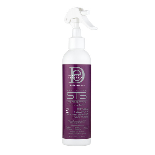 A 7.5oz spray bottle of Design Essentials STS Express Damage Recovery & Anti Breakage Treatment