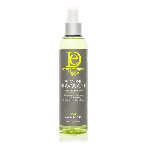 A 12oz bottle of Design Essentials Almond & Avocado Daily Curl Revitalizer