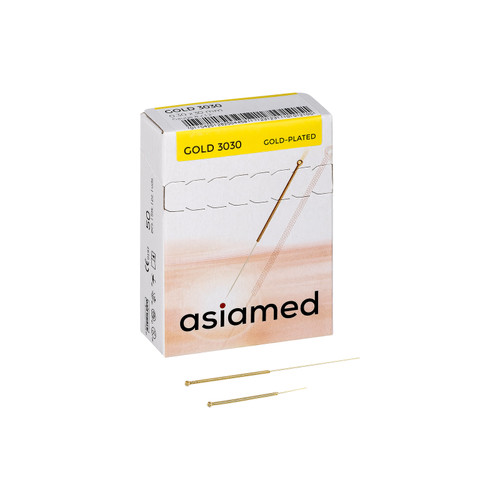 Asiamed Gold Plated Acupuncture Needles for Pain Free Insertion and Sensitive Patients