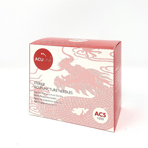 aculine copper handle needle 5 needles per guide tube ac5 1000 per box