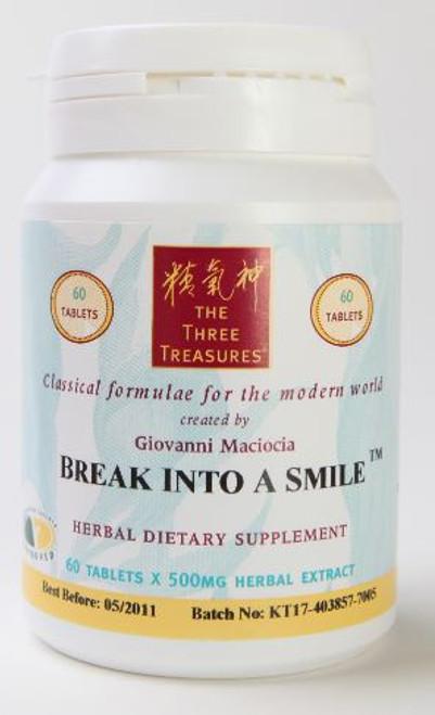 break into a smile