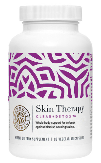 Skin Therapy Clear and Detox uses 10 clinically proven herbal extracts to address skin conditions such as acne, blemishes, rosacea, and more