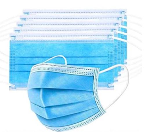 Single Use Three Ply disposable masks pack of 50-thumbnail