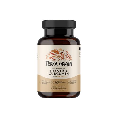 terra origin organic turmeric curcumin 60 capsules