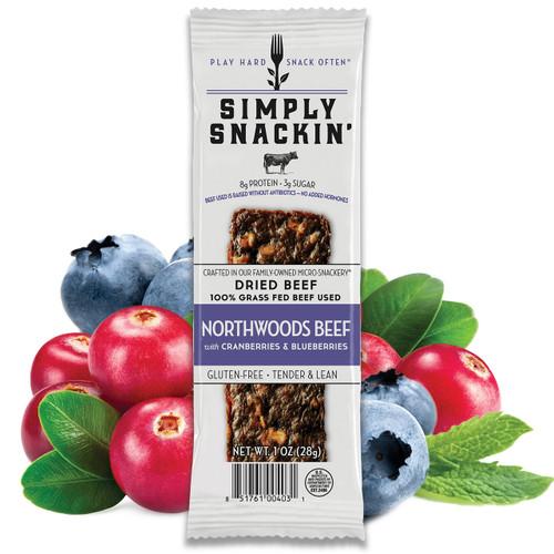 NORTHWOODS Beef with Cranberries & Blueberries Snack