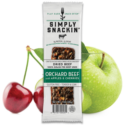 ORCHARD Beef with Apples & Cherries Snack