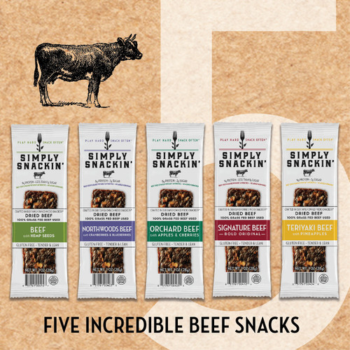 Assorted  100% Grass Fed Beef Snacks