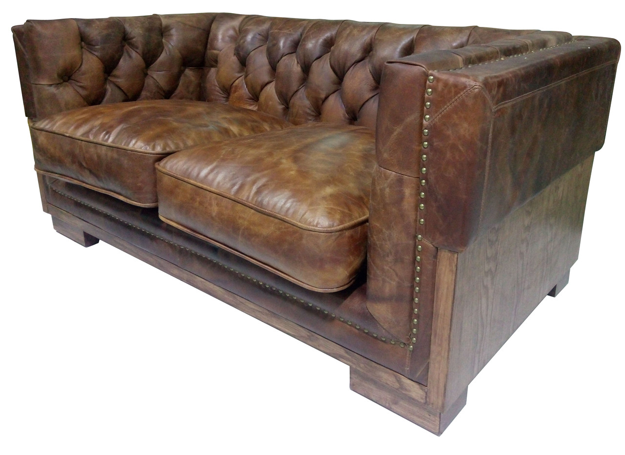 Miraculous Georgetown Leather Rustic Wood Loveseat Andrewgaddart Wooden Chair Designs For Living Room Andrewgaddartcom