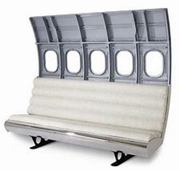 Aeronautical fans will fly high with this comfy airplane bench