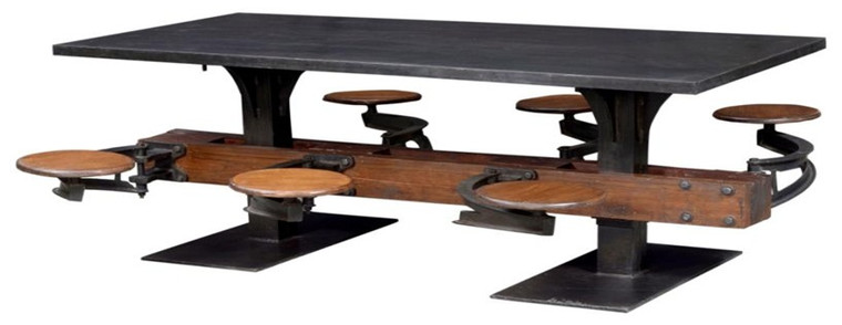 Industrial 6 Seater Table