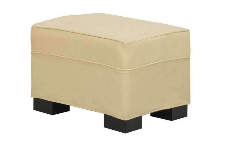 Lizzy Slipcover Ottoman