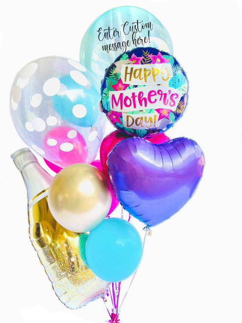 This bouquet comes with all items shown, plus customize a message for the special mom or grandma in your life!